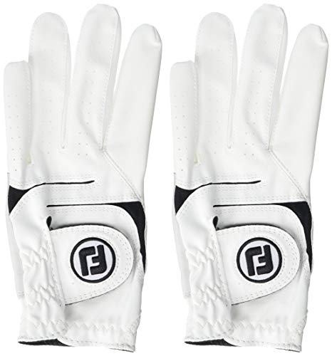 FootJoy Men's WeatherSof Golf Glove White Large, Worn on Left Hand