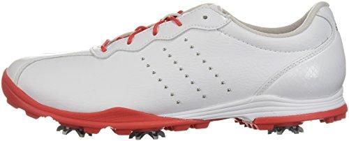 adidas Women's W Adipure DC Golf Shoe, FTWR White/Real Coral/Silver met, 7 Medium US
