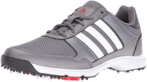 adidas Men's Tech Response Golf Shoe, Iron Metallic/White, 10.5 M US