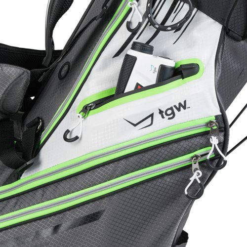 TGW Tour Deluxe 14-Way Golf Stand Bag Grey/Green