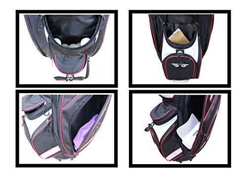 Eagole Super Light Golf Cart Bag,14 way Top and Full Length Divider ,10 Pockets (Black)