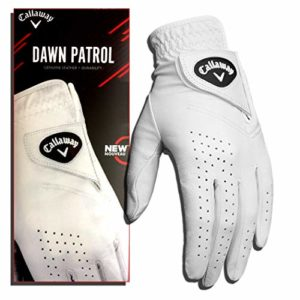 Callaway Golf Men's Dawn Patrol 100% Premium Leather Golf Glove, Worn on Left Hand, Medium/Large