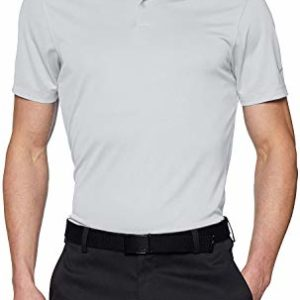 Nike Men's Dry Victory Solid Polo Golf Shirt, White/Cool Grey, Large