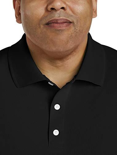 Amazon Essentials Men's Big & Tall Quick-Dry Golf Polo Shirt fit by DXL, Black, 4X Tall
