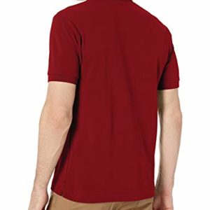 Lacoste Mens Short Sleeve L.12.12 Pique Polo Shirt Polo Shirt, Bordeaux Red, S