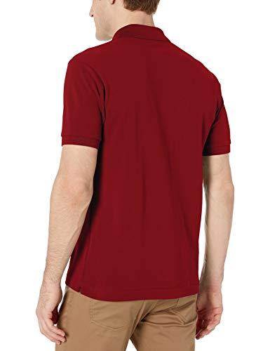Lacoste Mens Short Sleeve L.12.12 Pique Polo Shirt Polo Shirt, Bordeaux Red, S