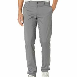 PGA TOUR Men's Flat Front Active Waistband Golf Pant, Quiet Shade, 40W x 29L