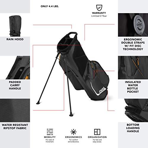 OGIO 2020 Fuse 4 Stand Bag (Dark Grey, Double Strap)