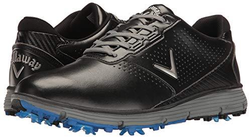 Callaway Men's Balboa TRX Golf Shoe, Black/Grey, 12 D US