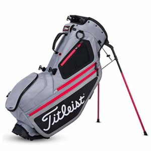 Titleist Hybrid 5 Golf Bag Sleet / Black / Red