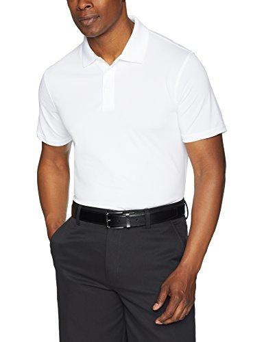 Amazon Essentials Men's Slim-Fit Quick-Dry Golf Polo Shirt, White, Medium