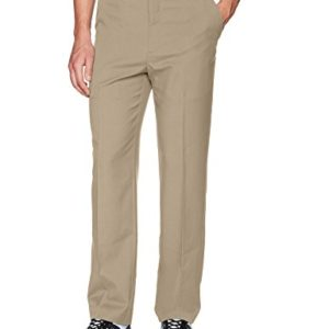 PGA TOUR Men's Flat Front Golf Pant with Expandable Waistband, Chinchilla, 36W x 30L
