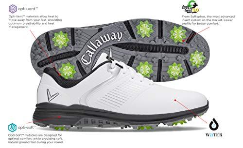 Callaway Men's Solana TRX Golf Shoes, White, 10.5, D