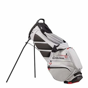 TaylorMade 2019 Flextech Crossover Stand Golf Bag, Silver/Blood Orange