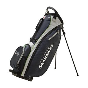 Wilson Sporting Goods 2018 NFL Carry Golf Bag, Seattle Seahawks, Navy, 36″ x 13.5″ x 10.1″