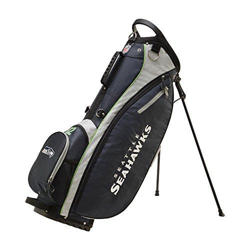 Wilson Sporting Goods 2018 NFL Carry Golf Bag, Seattle Seahawks, Navy, 36″ x 13.5″ x 10.1″