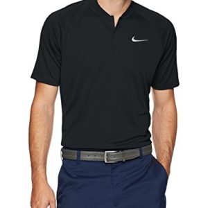 Nike Men's Dry Momentum Team Polo Golf Shirt, Black/Cool Grey, Medium