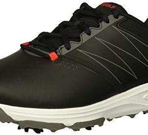 Skechers Men's Torque Waterproof Golf Shoe, Black/red, 12 M US