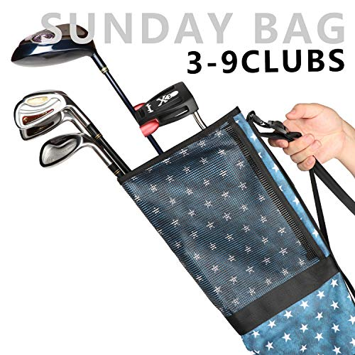 Champkey USA Golf Carry Bag – Lightweight Sunday Bag (Black)