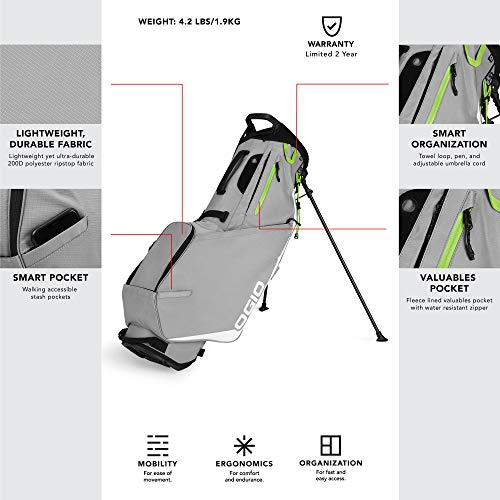 OGIO SHADOW Fuse 304 Golf Stand Bag, White
