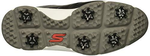 Skechers Men's Torque Waterproof Golf Shoe, Black/red, 10.5 M US
