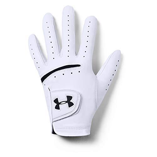Under Armour Men's Strikeskin Tour Golf Gloves , White (100)/Black , Left Hand X-Large