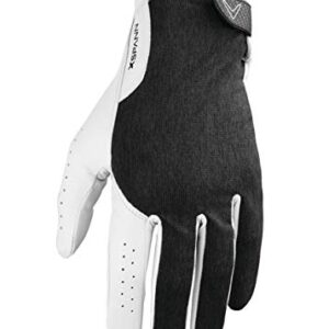 Callaway Golf Men's X-Spann Compression Fit Premium Cabretta Leather Golf Glove, Worn on Left Hand, Medium/Large