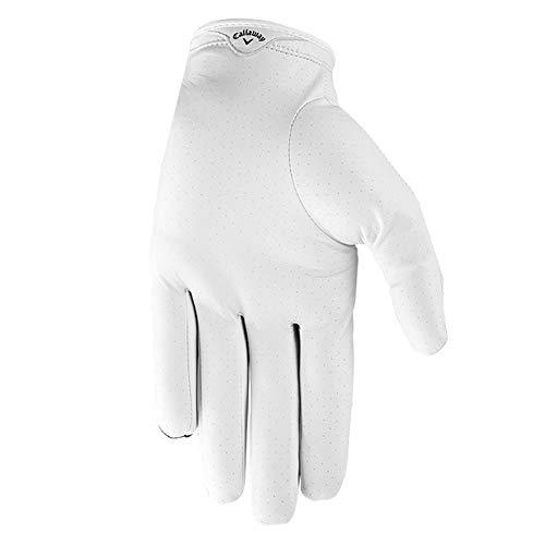 Callaway Golf Men's X-Spann Compression Fit Premium Cabretta Leather Golf Glove, Worn on Left Hand, Medium/Large