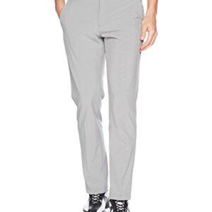 IZOD Men's Golf SwingFlex Slim Fit Pant, Cinder Block, 32W X 30L