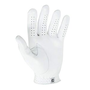 FootJoy Men's Contour FLX Golf Glove, Pearl, Cadet Medium/Large, Worn on Left Hand
