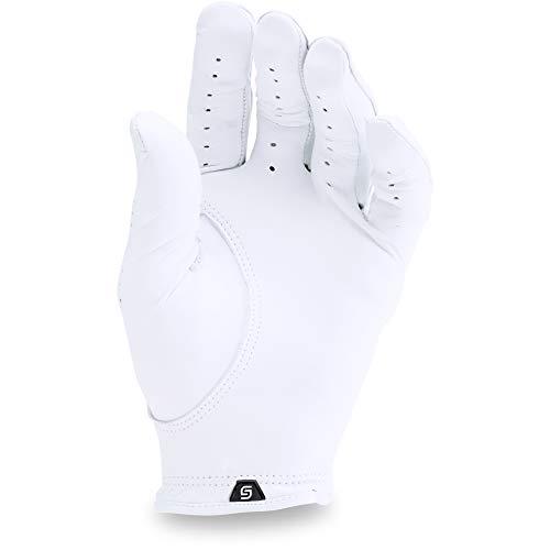 Under Armour Men's Spieth Tour Golf Gloves , White (100)/Black , Left Hand Medium/Large