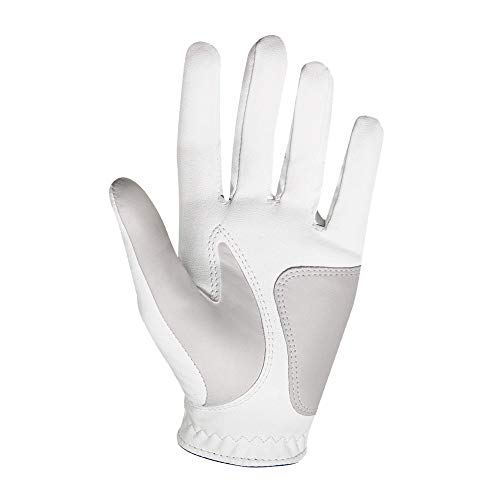 FootJoy Women's WeatherSof Golf Glove, Pack of 2, White Large, Worn on Left Hand