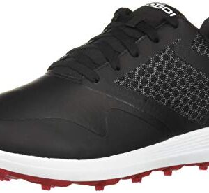 Skechers mens Max Golf Shoe, Black/Red, 10 US