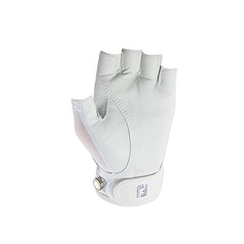 FootJoy Women's StaCooler Sport Golf Glove, White Large, Worn on Left Hand