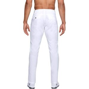 Under Armour Men's Showdown Tapered Golf Pants , White (100)/ White , 30/30