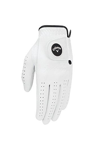 Callaway Men's Opti Flex Golf Glove, White, Medium/Large, Worn on Left Hand