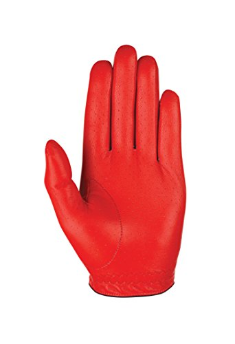 Callaway Golf Men's OptiColor Leather Glove, Red, Large, Worn on Left Hand
