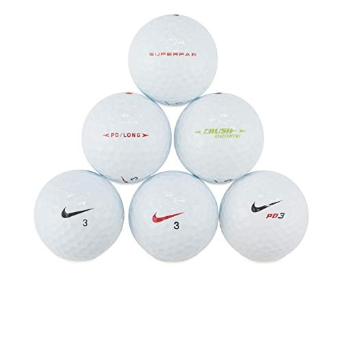 Nike Mix Golf Balls – Top Styles! 24 Near Mint Quality Used Golf Balls (AAAA RBZ One Tour and More golfballs!), White, One Size