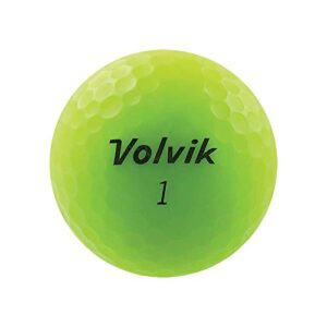 Volvik Vivid Golf Balls, Matte Green (One Dozen) – 9725