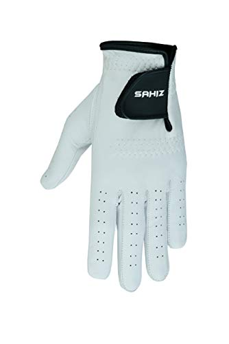 Sahiz Men's Golf Gloves Single Glove Value Pack Premium Quality Genuine Cabretta Leather Left Hand All Weather Golf Gloves (Large, Left Hand)