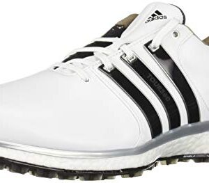 adidas Men's TOUR360 XT Spikeless Golf Shoe, FTWR White/core Black/Silver Metallic, 10.5 M US