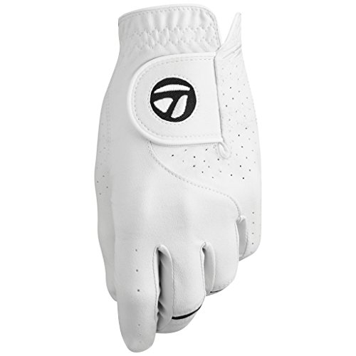 TaylorMade Stratus Tech Cadet Glove 2-Pack (White, Medium), White(Medium, Worn on Left Hand)