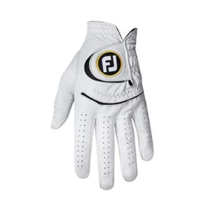 FootJoy Men's StaSof Golf Glove White Medium/Large, Worn on Left Hand