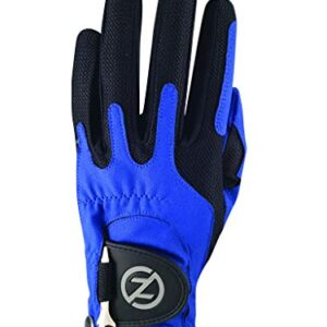 Zero Friction Men's Golf Glove, Left Hand, One Size, Blue