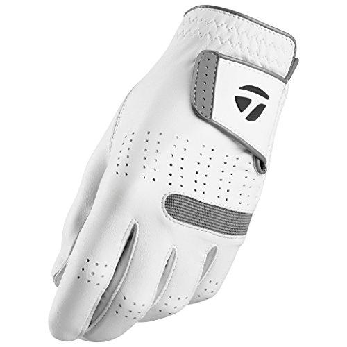 TaylorMade Tour Preferred Flex Glove (White, Left Hand, Medium), White(Medium, Worn on Left Hand)