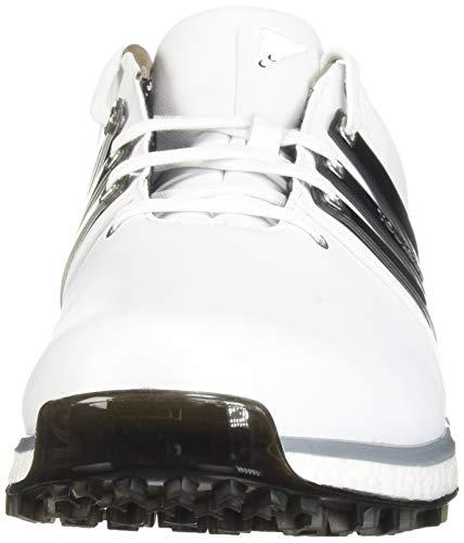 adidas Men's TOUR360 XT Spikeless Golf Shoe, FTWR White/core Black/Silver Metallic, 10.5 M US