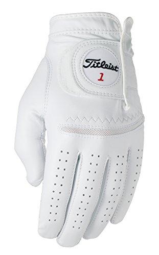 Titleist Perma Soft Golf Glove Mens Reg LH Pearl, White(Medium, Worn on Left Hand)