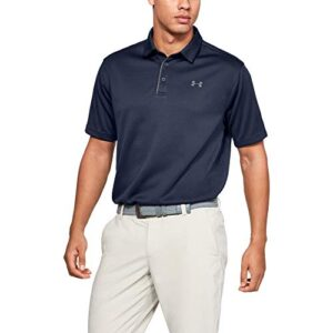 Under Armour Men's Tech Golf Polo , Midnight Navy (410)/Graphite , Large