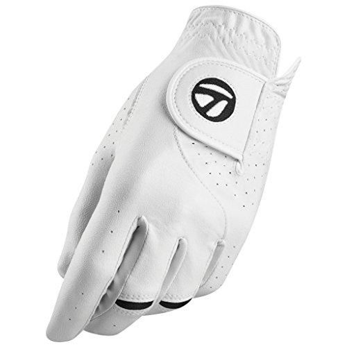TaylorMade Stratus Tech Glove (White, Left Hand, Large), White(Large, Worn on Left Hand)