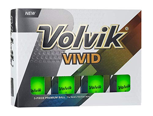 Volvik Vivid Golf Balls, Matte Green (One Dozen) – 9725